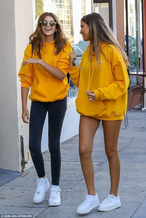 Mustard Yellow Hoodie Outfit Ideas