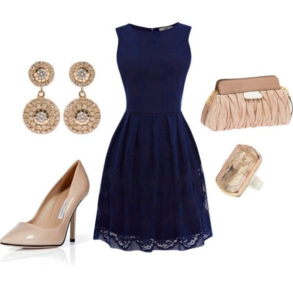 Navy Blue Gown Outfit Ideas