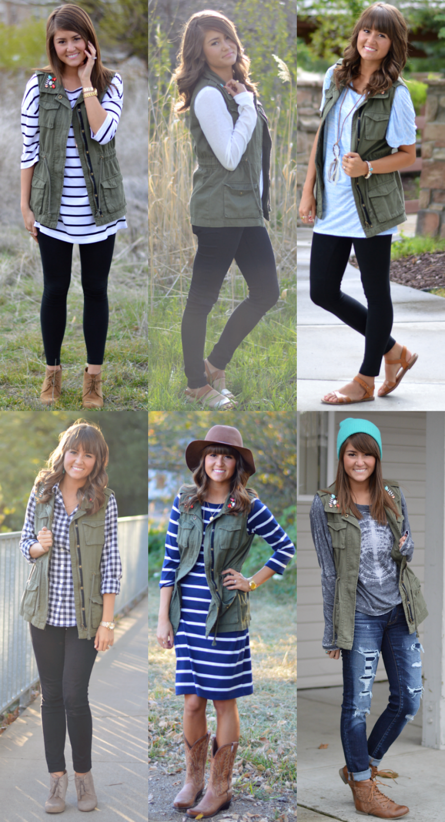 Olive Green Vest Outfit Ideas