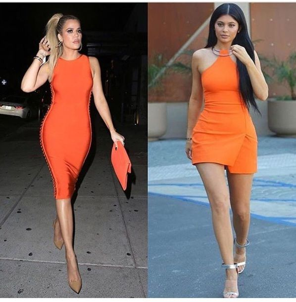 Orange Cocktail Dress Outfits