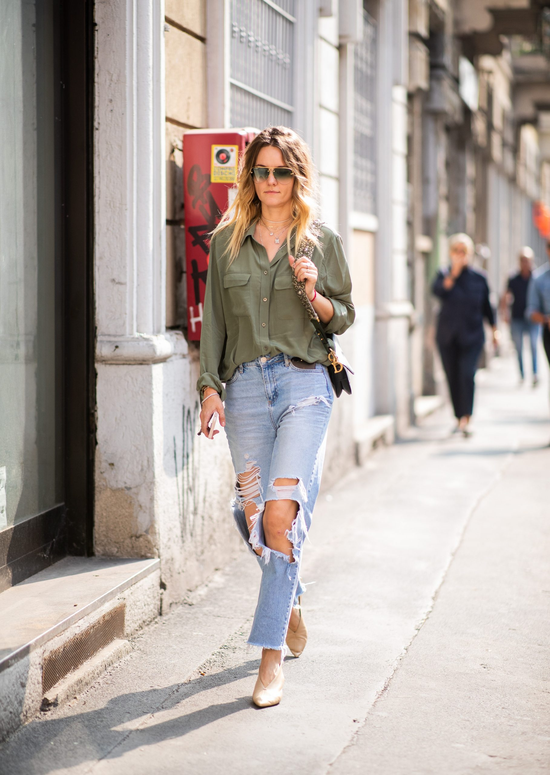 Patched Jeans Outfit Ideas