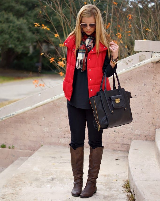 Red Vest Outfit Ideas