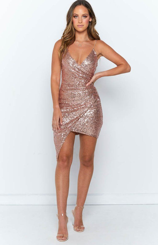 Rose Gold Dress Outfit Ideas