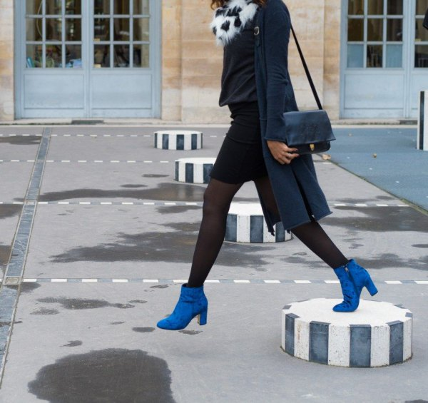 Royal Blue Boots Outfit Ideas