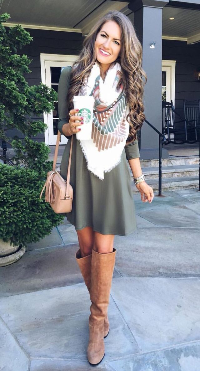 Scarf Dress Outfit Ideas