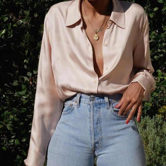 Silk Jacket Outfit Ideas