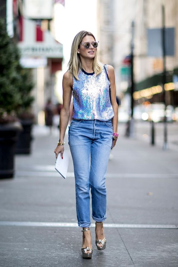 Silver Tank Top Outfit Ideas