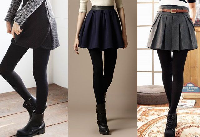 Skirted Leggings Outfit Ideas
