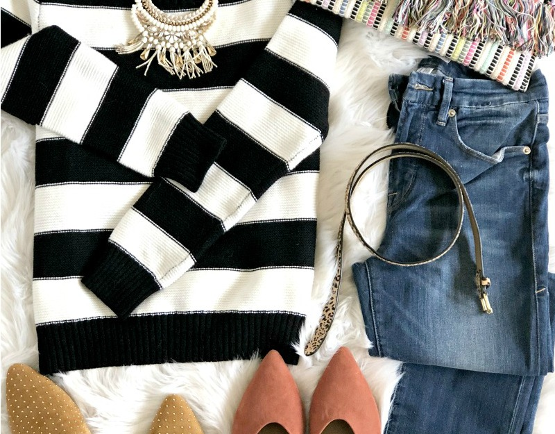 Striped Sweater Outfit Ideas