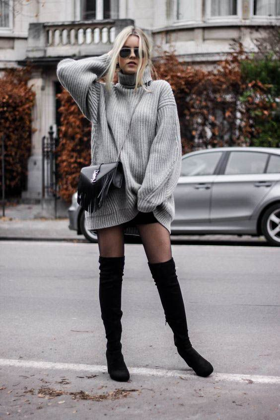 Sweater Boots Outfit Ideas