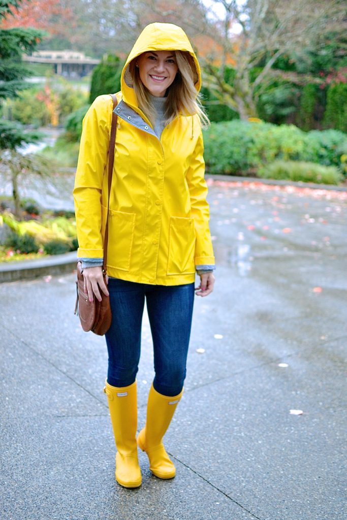 What To Wear With Yellow Raincoat