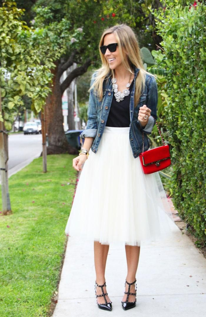 White Tulle Dress Outfit Ideas