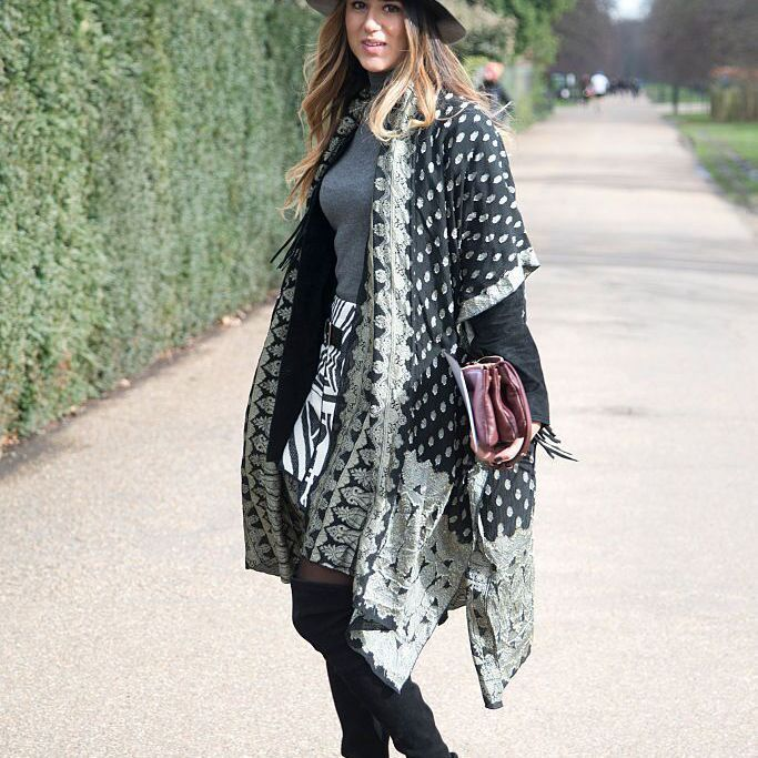 Woolen Shawl Outfit Ideas